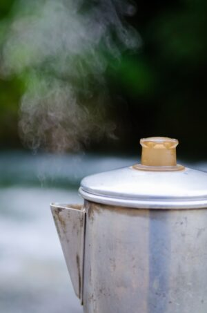 自然の中でお湯を沸かす